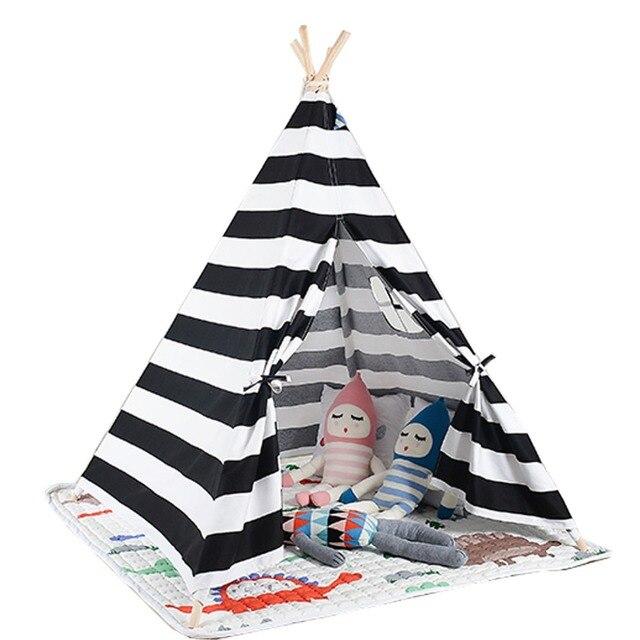 Chwalebne Biały i czarny kolor dzieci gry pokój namiot Tipi sprzedam z maty YW08