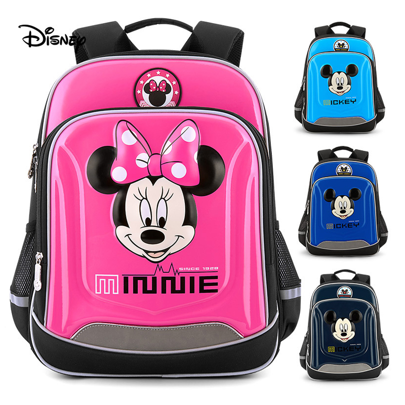 Waterproof Cute Cartoon Mickey Primary Student Backpack For Teenage Boy Girls Backbag Minnie Children s Grade1