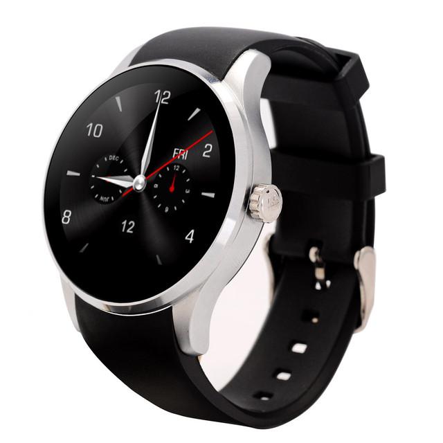 Redonda de metal smartwatch k88s smart watch com cartão sim freqüência cardíaca monitorar conector Samsong montre Android & IOS Telefone pK dz09 u8