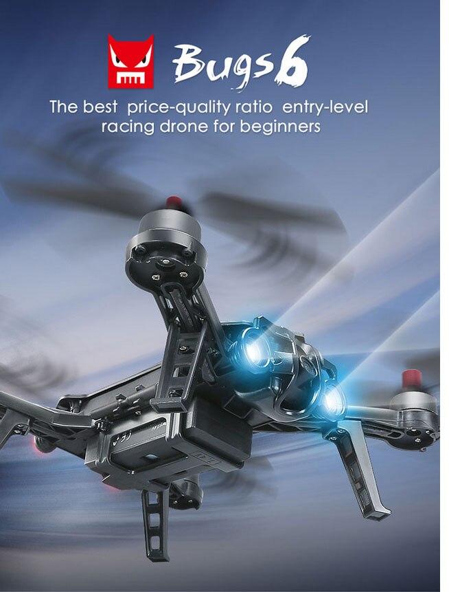 Original MJX Bugs 6 B6F B6FD B6 B6FD RC Quadcopter Drone+G3 Racing 2.4G FPV 720P Camera 5.8G VR Goggle 3D Glasses Airplane