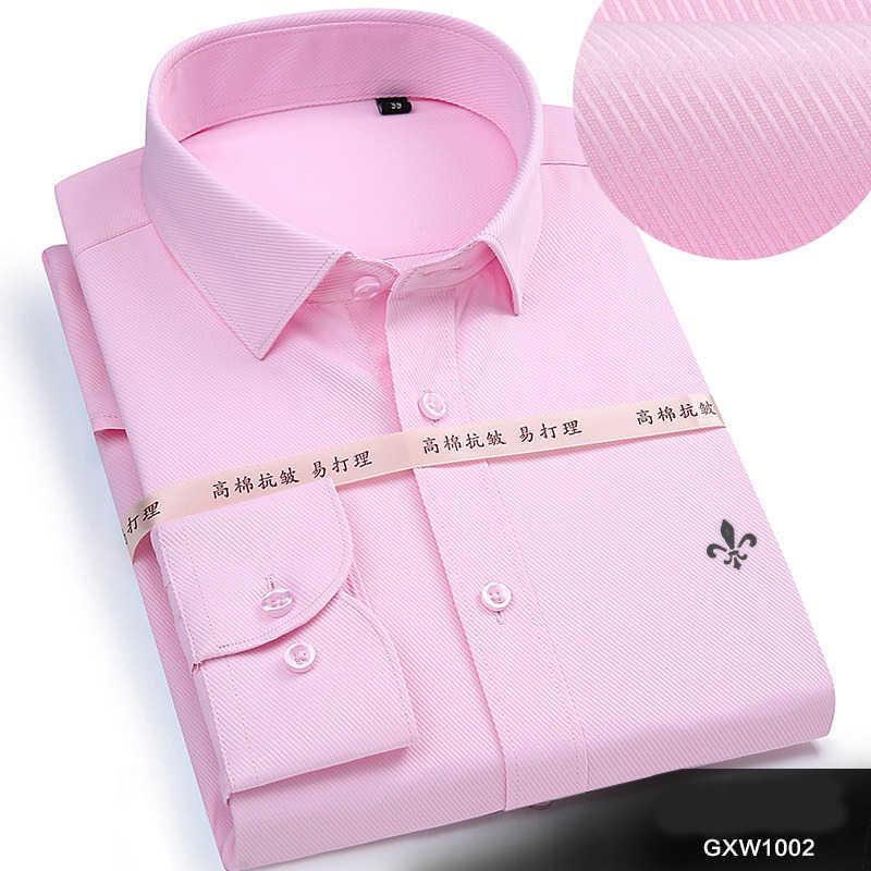 DUDALINA 2018 男性カジュアル長袖固体シャツスリムフィット男性社会ビジネスドレスシャツブランド男性服ソフトで快適な