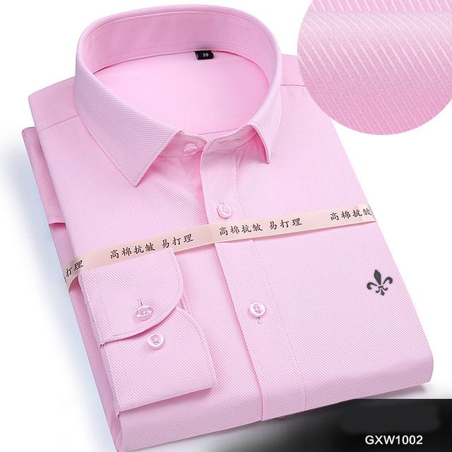DUDALINA 2019 Men Casual Long Sleeved Solid shirt Slim Fit Male Social Business Dress Shirt Brand Men Clothing Soft Comfortable