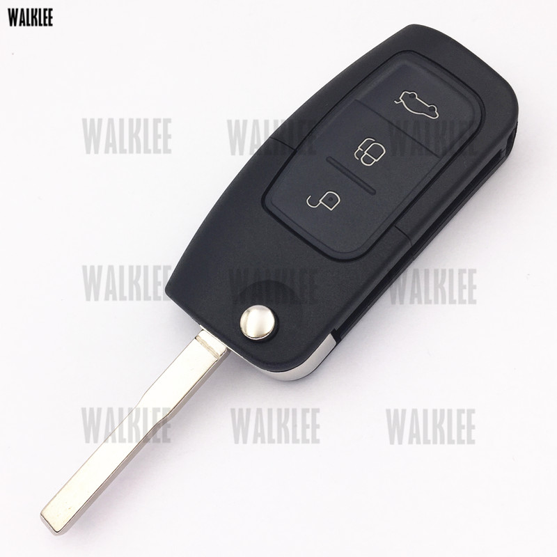 WALKLEE 433MHz Remote Car Key Suit for Ford Fusion Fiesta Focus Mondeo Galaxy HU101 Blade without Chip Keyless Entry Transmitter