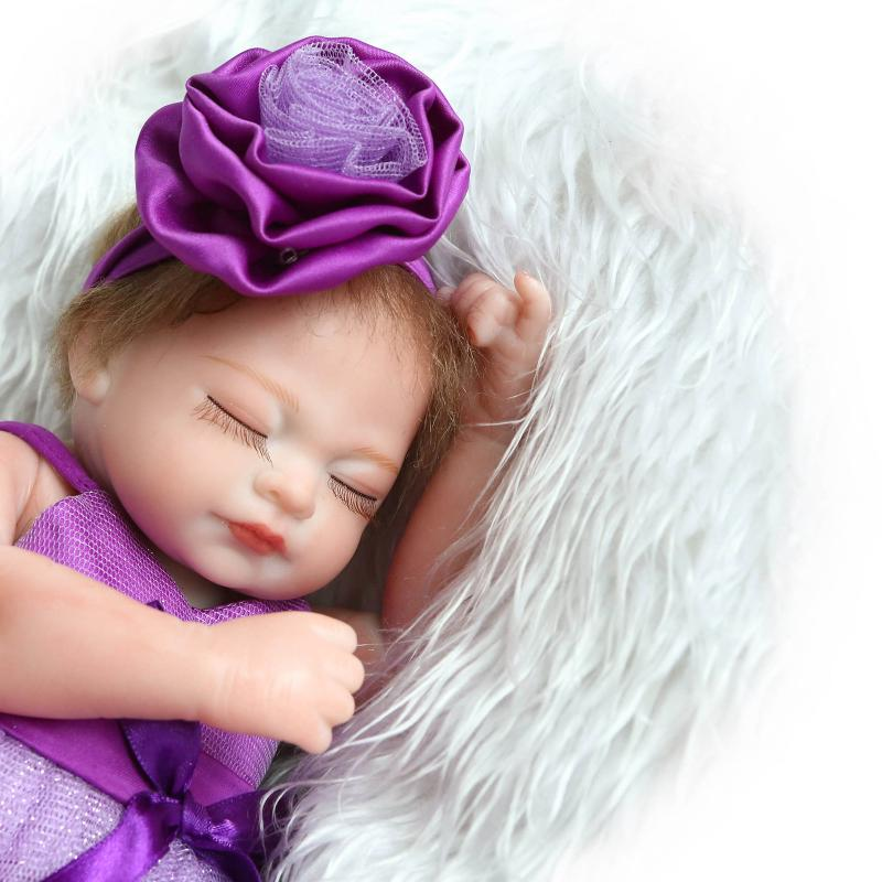 27cm girl Whole Silicone Bebes Reborn Bonecas Play Toys For Babies Bathing Bebe Alive Doll Toy Alive Baby Doll Kids Xmas Gif 1