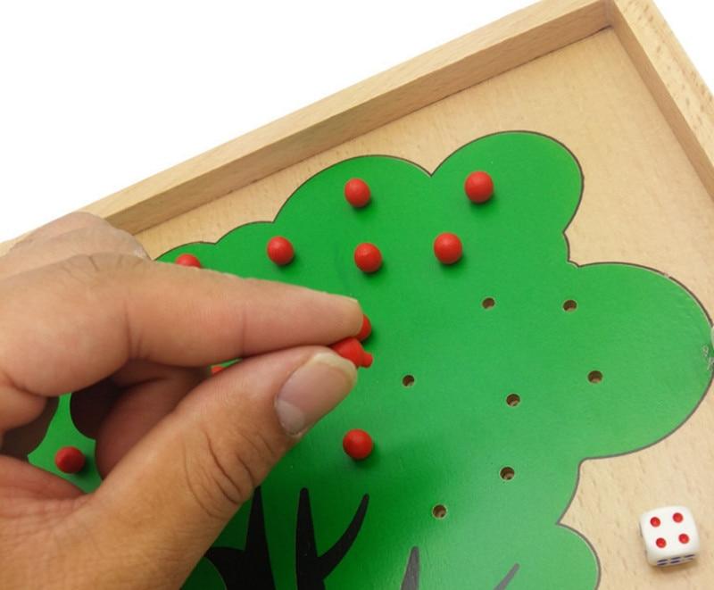 Nouveau jouet en bois bébé jouet éducatif Montessori jouets pommier comptage apprentissage grand cadeau livraison gratuite - 3