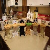Моделирование Смола Французский бульдог статуэтки собак Home Decor ремесел украшения комнаты смоляные фигурки животных собаки коробка для хра
