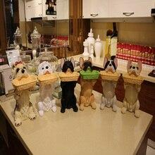simulation resin French Bulldog dog figurines home decor crafts room decoration resin animal figurines dog Storage Box statue 40cm animals bust simulation herding dog statue bears resin art