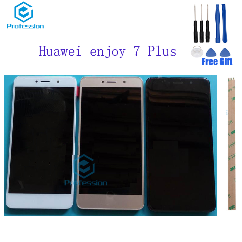 For Huawei enjoy 7 Plus TRT-AL00 LCD Display and Touch Screen Screen Digitizer Assembly Replacement +Tools+Adhesive