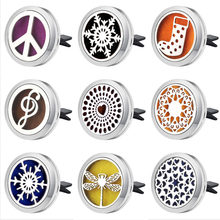 Silver Tree of life Car Air Diffuser Stainless steel Freshener car Essential Oil Diffuser perfume Aromatherapy necklace Locket(China)