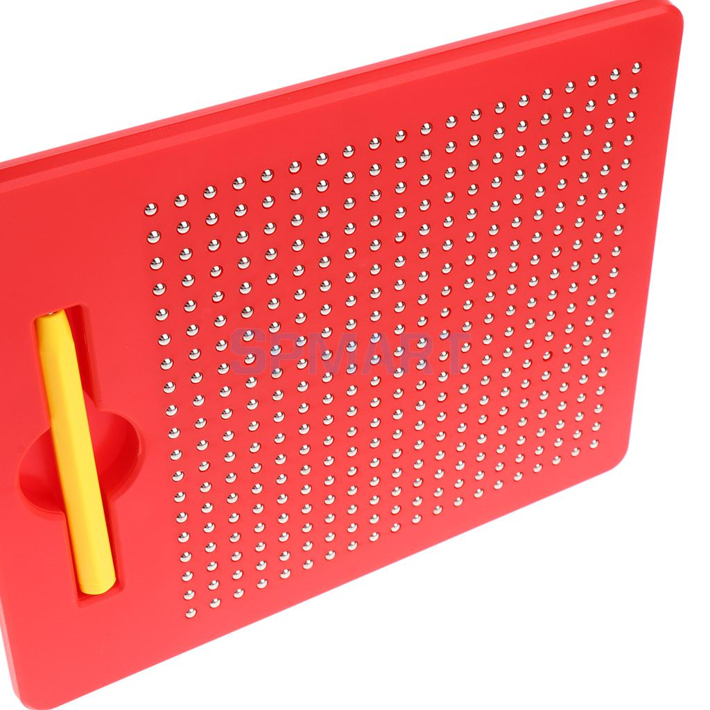 Children Ball Magnetic Drawing Writing Board /Sketch Pad/Doodle Boards Art Educational Toy Gift S Red