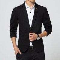 Mens Blazer Jacket Black Slim Fit Royal Blue Suit Jacket Casual Coat Long Sleeve Ceket Blaser