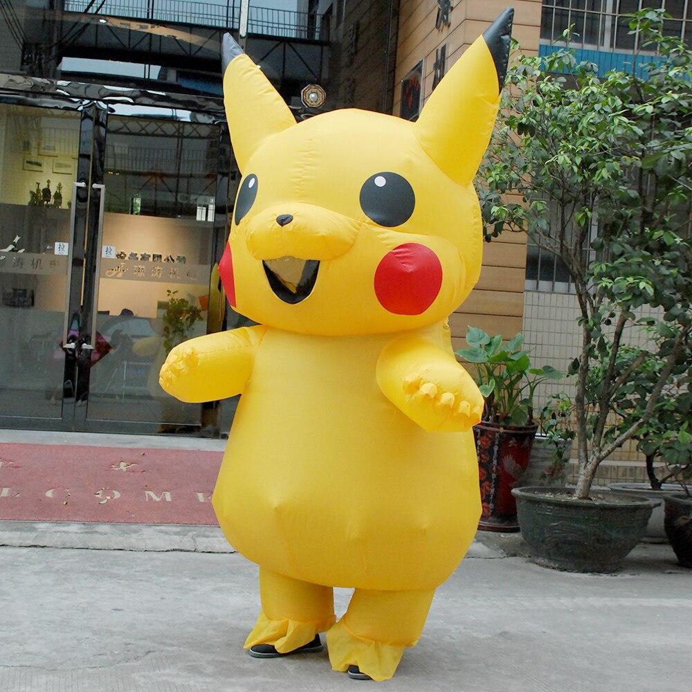 Halloween cosplay costumes for women inflatable pikachu costume adult Child pokemon cosplay costumes onesie mascot