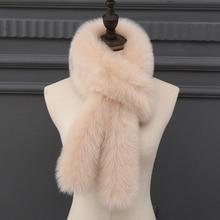 MIARA.L new super cute rabbit ears baby faux fox fur scarf faked hair collar ladies shawl thick for