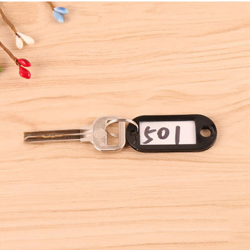 56ca507122ca US $0.66 12% OFF 11PCS Plastic Name Tags Key Chain Small Size Multi Color  ID Tag Set for Luggage-in Key Chains from Jewelry & Accessories on ...