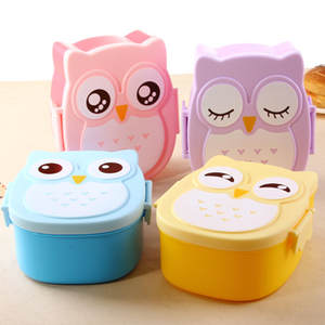 HOUSEEN Owl Lunch Boxes Bento Container Children's