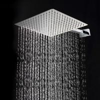 30cm*30cm Square stainless steel ultra thin Rainfall shower head. 12 Inch rain showerheads. Not Includes Shower Arm