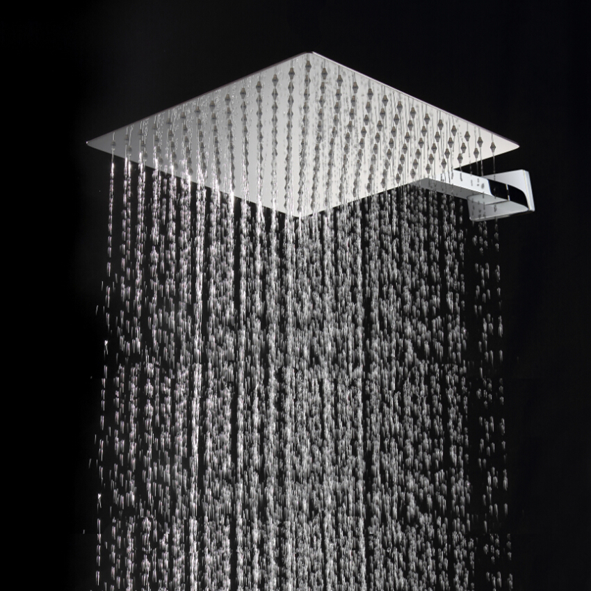 30cm*30cm Square Stainless Steel Ultra-thin Rainfall Shower Head. 12 Inch Rain Showerheads. Not Includes Shower Arm
