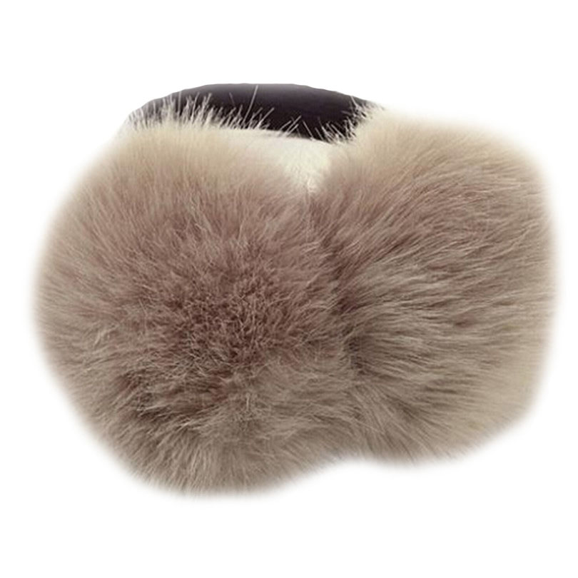 CHSDCSI Winter Earmuffs Warm Fur Ear Warmer High Quality Ski Fur Earmuffs Ear Cover For Girls Solid Color For Women Headphones