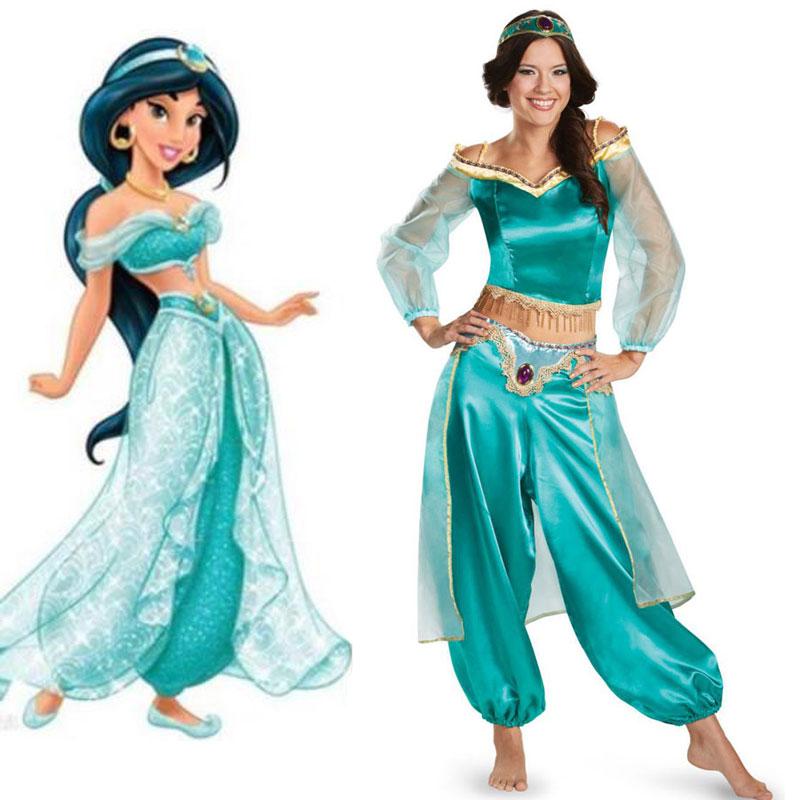 Umorden Carnival Party Halloween Aladdin Lamp Princess Jasmine Costumes Costume Women Sexy Arabian Belly Dancer Cosplay Dress индийский костюм для танцев девочек