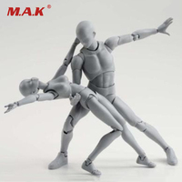Боди KUN/Боди CHAN BODY-chan BODY-kun серый цвет Ver. Черная ПВХ фигурка Коллекционная модель игрушки