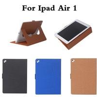 Case cho iPad Air 1 Hạt Vải PU Với Mềm TPU trở lại Ultra Slim Trọng Lượng Nhẹ Smart Cover Case cho iPad Air1 ipad5