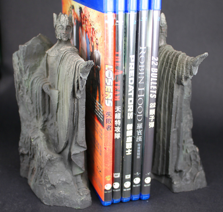 The Lord of the Rings Hobbit Third The Gates of Gondor Argonath Statue Bookends the hobbit the battle of the five armies chronicles the art of war