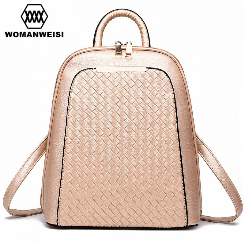Luxury PU Leather Student School Bags 2018 Fashion Women Backpack High Quality Female Shoulder Bag Schoolbag Bolsa Saco 8 Colors high quality fashion women backpack bag casual ladies pu leather school book shoulder bags solid student bolsa feminina