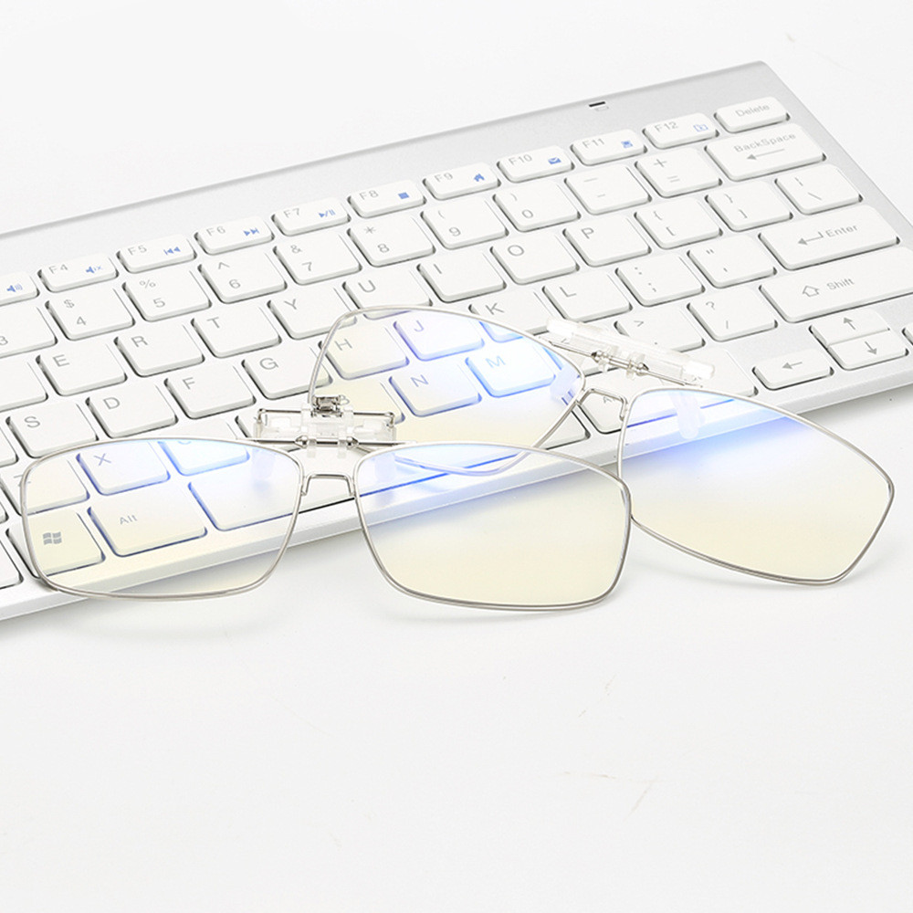 Blue Light Blocking Clip-on Computer Reading Glasses Anti Blue Rays Clip On Gaming Protection Eyewear