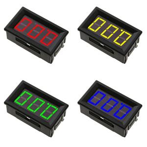 Мини DC 0-100 в цифровой вольтметр тестер напряжения 3-проводной светодиодный дисплей Электрические измерительные приборы