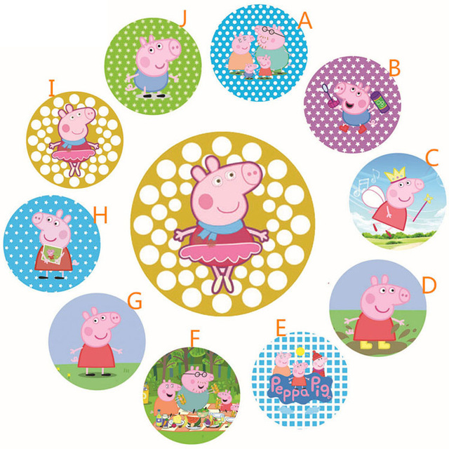 peppa pig badge 2015 new 10 psc set children s birthday ornaments