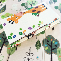Baby Foldable Play Mat Kids Rug Cartoon Animal Developing Mat Toddler Game Pad Toys For Children Crawling Activity 150x200x1 cm