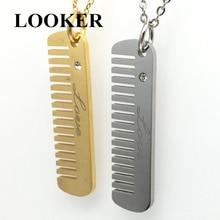 Los hombres Bijoux collar Vintage de plata secador de pelo estilista peine de tijera colgante de collar para las mujeres cadena Collares de la joyería