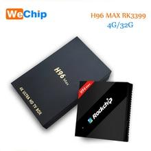 H96 Max 4 GB 32 GB RK3399 Sechs Kern Android 7.1 TV Box 2,4G 5,8G Dual WiFi H.265 BT4.0 4 Karat 2 Karat USB3.0 1000 Mt LAN Typ c Media player