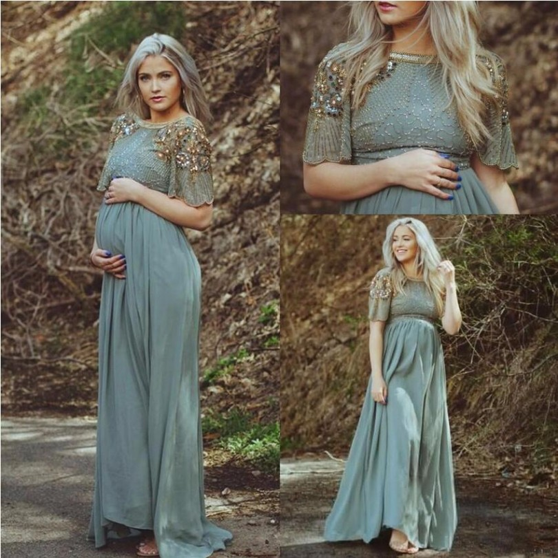 Arabic Pregnant Evening Dress 2018 Formal Turkish Islamic Muslim ...