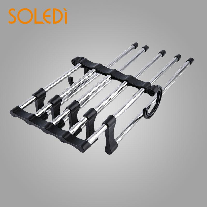 Plastic Trouser Towels Clothes Rack Rod Stand Rack Adjustable Extension