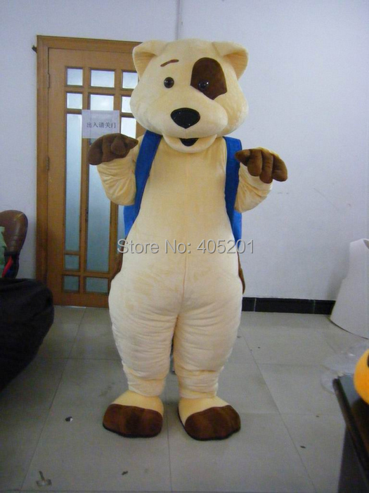 Official Website Polyfoam High Quality Costume Spot Dog Mascot Costumes Blue Backpack Street Price