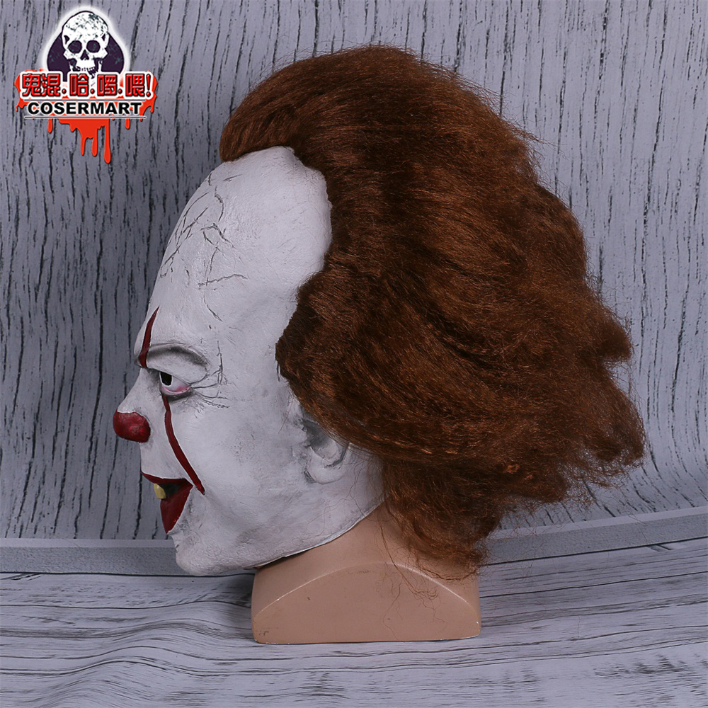2017 Movie Stephen King's It mask Joker Mask Tim Curry Horrible Mask Cosplay Halloween Party (6)
