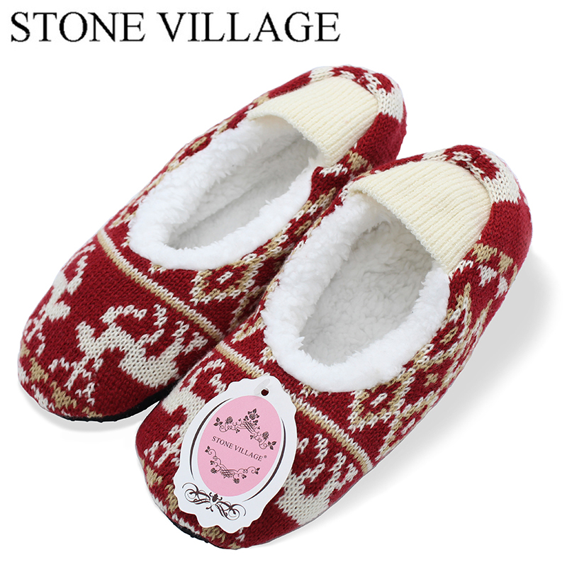 STONE VILLAGE New Arrival 2018 Spring Christmas Deer Pattern Lady Slipper Girl Slippers Comfortable Indoor House Women Slippers the stone house