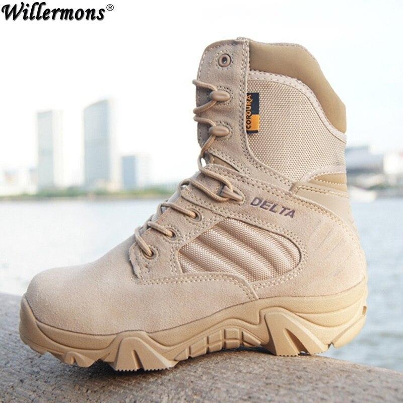 2018 Nouveau Printemps et Automne hommes Delta Force Armée Combat Extérieur Haute Bottes De Sécurité Chaussures Hommes Bottes Tactiques Militaires chaussures de travail