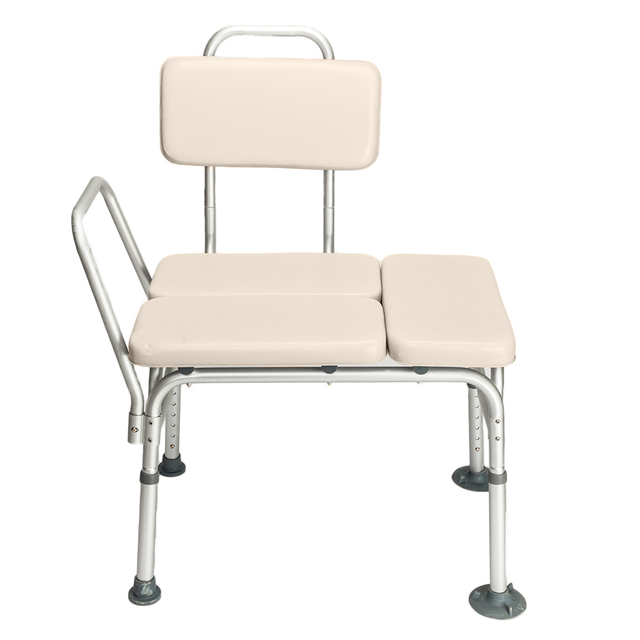 Medical Shower Chair 6 Height Adjustable Bath Tub Bench Stool Seat Back And  Arm US