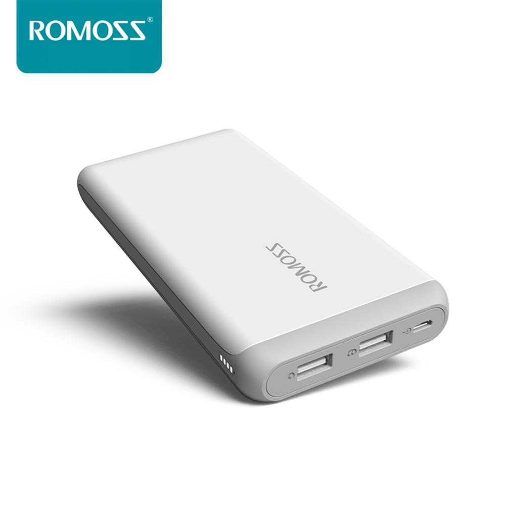 ROMOSS Arrow10 Mobile Power 10000mAh Portable 2.1A Fast Charge Lithium Polymer Battery 2 USB Ports for iphone7plus Xiaomi 5 Huaw