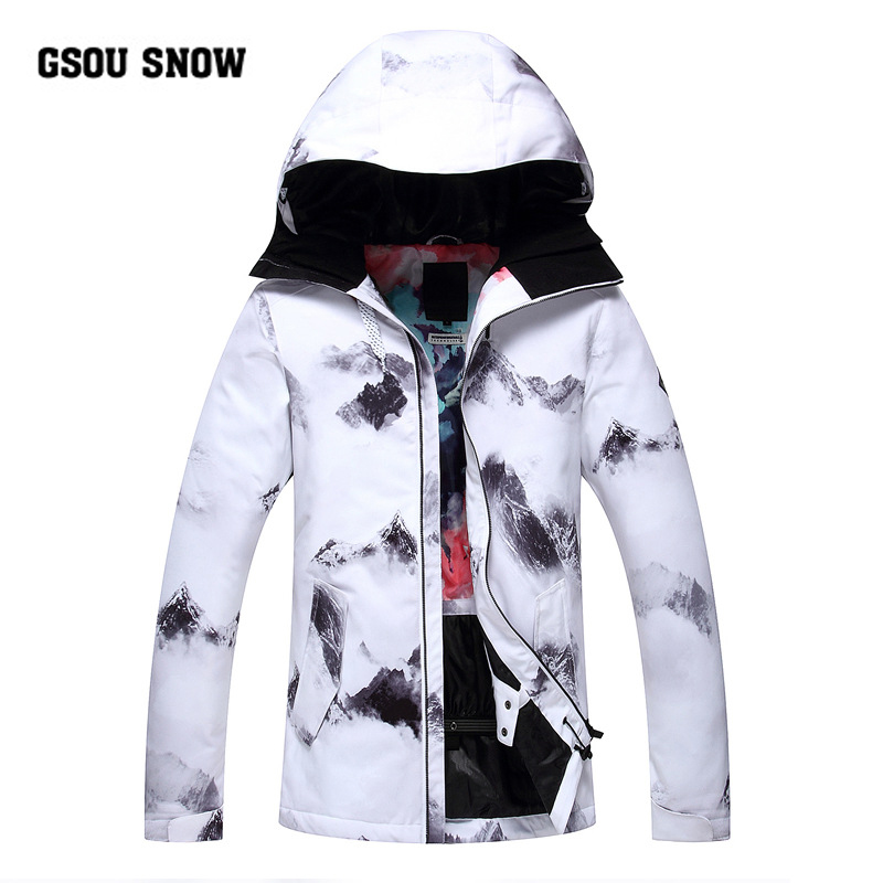 Gsou Neve Bianco Termale Calda Impermeabile Antivento Da Sci delle Donne/Snowboard Giubbotti sport All'aria Aperta traspirante sci top donna XS SML