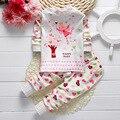 Осень зима ребенка bebes одежда Хлопок милые hello kitty костюм Миньоны одежды младенца мальчики девочки одежда 2 шт. комплект одежды