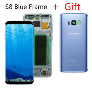 ORIGINAL LCD for SAMSUNG Galaxy S8 LCD Display G950 G950F S8Plus Lcd Display G955 G955F Touch Screen With Gift S8 Battery Cover