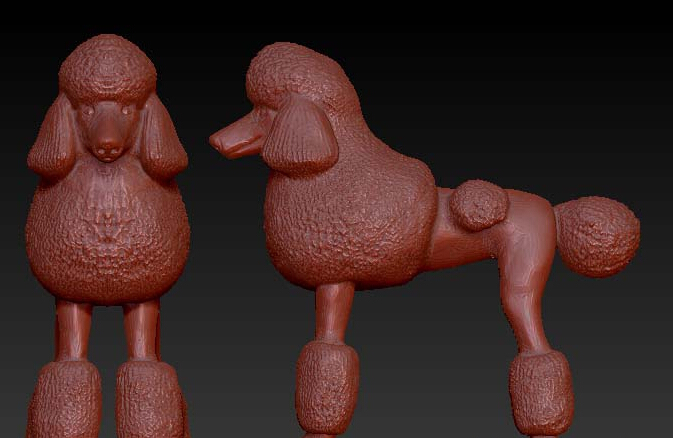 3d Model Relief  For Cnc In STL File Dog_3
