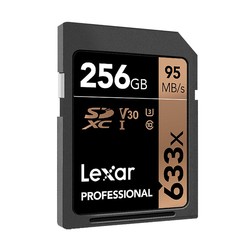 Image 4 - Original Lexar SD card 633X cartao de memoria 95MB/S 256GB SDXC U3 Camera SLR single sd card for camera memory card class 10-in Memory Cards from Computer & Office