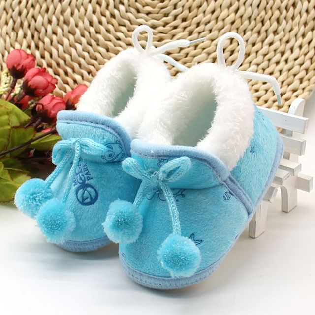 Winter Sweet Newborn Baby Girls Princess Winter Boots First Walkers Soft Soled Infant Toddler Kids Girl Footwear Shoes | Happy Baby Mama