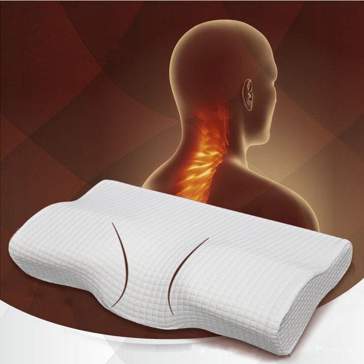 Orthopédiques En Latex Magnétique 50*30 CM Blanc Couleur Cou Oreiller Mousse à Mémoire Lente Remontée Oreiller Soins de Santé Cervicale Douleur libération