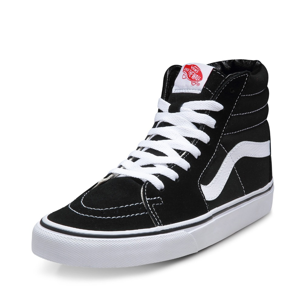 Original Vans Old Skool Shoes Classic Men Women High Tops Canvas Shoes  Skateboarding Shoes Sports Vintage Shoes SK8 Hi Sneakers-in Skateboarding  from Sports ... 25a917f53