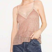 women top sleeveless Cami Camisole lace spaghetti Strap Tops Women Fashion Slim Short tops wild Harness Vest Summer Tank Top